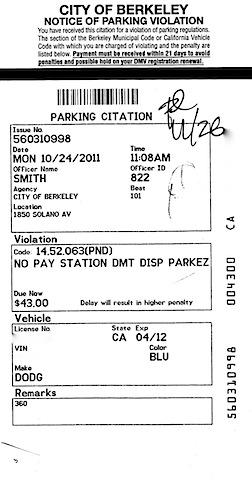 Berkeley Parking: $516 an Hour - Infospigot: The Chronicles